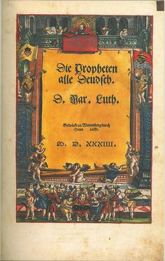 Luther Bible 1534 fac v2 Title, Bible In My Language
