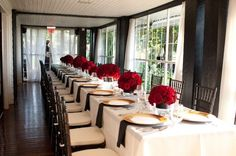 Red & Black Table Styling