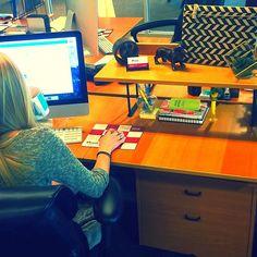 Nicole's desk is so fresh and so clean (with a little help from @HobbyLobby)! #InsanelySmartIdeas  #AgencyLife #OrangeCounty #Marketing #Advertising #Agency #HobbyLobby #Creative