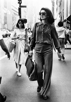 "welcometothe50sand60s: ""Jackie O. shopping on the streets of New York City in the late 60s """