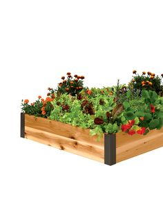 Cedar Raised Beds 3 ft. | Raised Bed Gardening Made in Vermont, looks great around a mailbox with a rock garden planted.