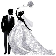 Bride and groom silhouette wedding art, wedding story, wedding crafts, wedding couples, Wedding Crafts, Wedding Art, Wedding Story, Wedding Couples, Wedding Bells, Bride And Groom Silhouette, Wedding Silhouette, Silhouette Vector, Wedding Drawing