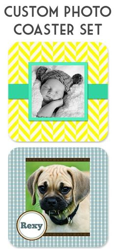 3.00 Custom Photo Coaster Set + s/h!  {this might make a fun gift to stash away!} #photo #coasters