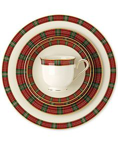 Lenox Winter Greeting Plaid 5 Piece Place Setting