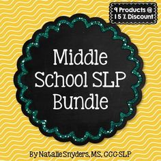 Start your year off with some great new materials with this HUGE 324 page bundle for SLPs in the middle school setting!  Covers both language and articulation, with a focus on building vocabulary skills.