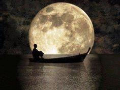 Gambar Bulan Purnama Dan Perahu