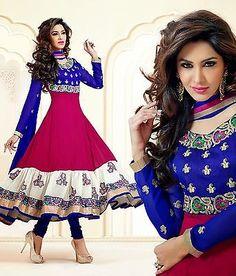 Indian Bollywood Designer Anarkali Salwar Kameez Wedding & Party wear suit dress