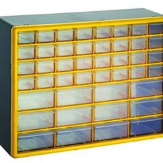 GFORGE 44 Drawer Heavy Duty Plastic Parts Organizer Drawer & Storage Box 44 flexible sturdy drawers stacks securely Can be wall mounted with keyhole slot Transparent easy-pull drawers Rugged high impact case for durability Overall dimensions: x x Storage Drawers, Storage Boxes, Storage Organization, Plastic Organizer, Plastic Storage, Solar Panels For Sale, Garage Cabinets, Tool Cabinets, Craft Cabinet