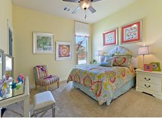 Such a charming secondary #bedroom! #kidsbedroom