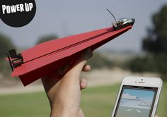 Shai Goitein is raising funds for PowerUp - Smartphone Controlled Paper Airplane on Kickstarter! PowerUp turns your self-made paper airplane into a smartphone-controlled flying machine Creative Words, Creative Design, Creative Ideas, Hamsters Video, Fly Paper, Flying Drones, Learn To Fly, New Inventions, Paper Plane