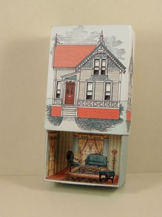 Number 27 Victorian House Printable Match by PaperCottagePrinties. Make your own Match Box