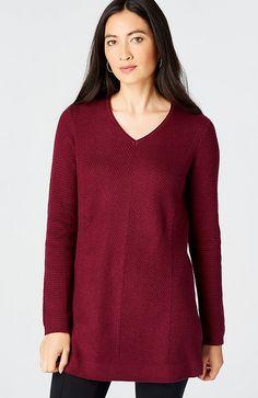 essential V-neck sweater tunic