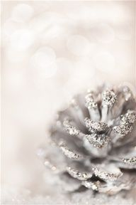 Silver pinecones for holiday centerpiece