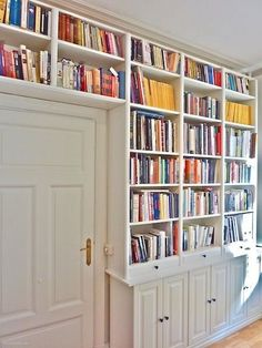 it does look neater to use bookcases rather than track shelving...