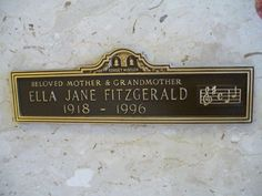 INGLEWOOD-- Ella Fitzgerald-- Inglewood Park Cemetery