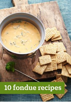 10 Fondue Recipes – Nothing gets the party started like savory fondue presented with crusty bread and crunchy veggies. And nothing wraps it up like a dessert fondue made with melted chocolate and surrounded by scrumptious dippables like crackers and fresh, seasonal fruit.
