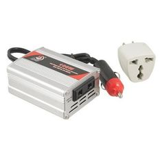 Gino Car DC 12V to AC 220V Power Supply Inverter Converter 100W by Gino. $19.48. Convert DC 12V electric source into AC 220V power.Have a universal travel adapter for pluging flat 2 pin, AU 2 pin, AU 3 pin, UK 3 pin, EU 3 pin plug.Widely used for all kinds of electric equipments which power consumption are less than 300W and which voltage are equal to AC 220V, such as cell-phone, portable computer, electric light, digital camera, TV, CD player, DVD, electri fan, e...