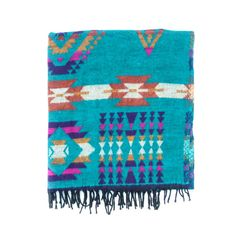 "JULIA SZENDREI TEAL MONTARA BLANKETS Hand loomed wool blankets. 100% Yak wool. Softer than traditional wool, lighter than cotton. 36 X 82"" Shop Now"
