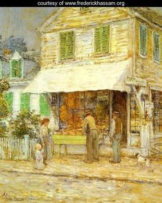 """Frederick Childe Hassam:  """"Provincetown Grocery Store"""""""