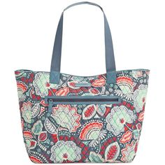 Vera Bradley Win Limited Edition Reversible Tote ($88) ❤ liked on Polyvore featuring bags, handbags, tote bags, nomadic floral, white purse, white tote handbags, vera bradley tote bags, vera bradley tote and floral tote bag