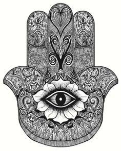 Image detail for -hamsa # hamsa tattoo # tattoo # black & white