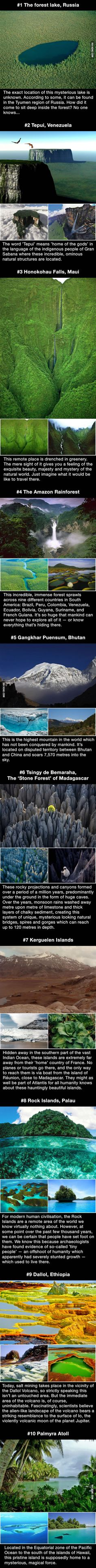 Ten incredible and mysterious places around the world untouched by mankind