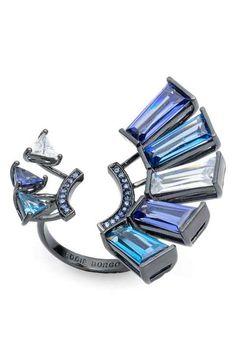 Crystal-Look en forme de cœur boutons facettes 3-Pack