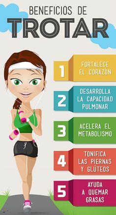 """#DEPORTE Trotar, o como actualmente se denomina """"hacer jogging"""", tiene muchos beneficios para nuestro cuerpo. Os dejamos una divertida infografía sobre las ventajas de realizar este ejercicio aeróbico."""
