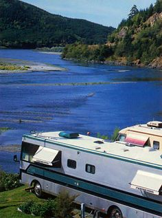 Four Seasons R.V. Resort in Gold Beach, Oregon. Right on the Rogue River....the sunny side :)