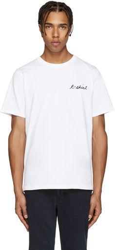 Rag & Bone - White Embroidery T-Shirt