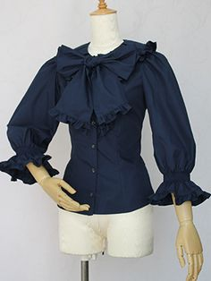 Victorian maiden タックカラードールブラウス