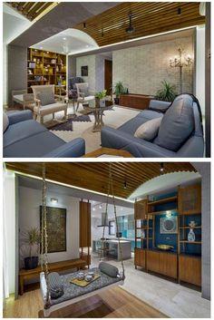 Rustic Color Palettes, Rustic Colors, Apartment Interior, Apartment Living, Luxury Apartments, Luxury Homes, Living Room Designs India, Wooden Flooring, Design Elements
