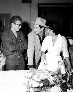 James Dean, Rock Hudson, Elizabeth Taylor
