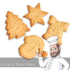Biscoitos de Natal Hoje fiz umas lindas Bolachas de Natal com os cortadores da Mago. A Doce Forminha tem vários cortadores... incl...
