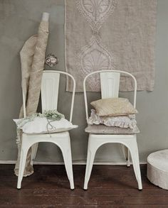 Fabulous white metal chairs