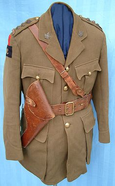 British Pattern Five-Button Jacket British Army Uniform, British Uniforms, Canadian Army, Combat Pants, Army Infantry, Military Uniforms, World War One, Jacket Buttons, Military History