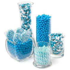 Blue - Candy Kit for Baby Showers $59.99 | Boy Baby Shower Ideas....i can do cheaper though :))