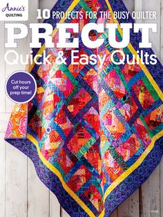 "Read ""Precut Quick & Easy Quilts"" by Annie's available from Rakuten Kobo. Precut Quick & Easy Quilts is the book you've been waiting for. 10 projects all made with the most popular precuts. Quilting Tips, Quilting Projects, Quilting Designs, Jellyroll Quilts, Easy Quilts, Star Quilt Patterns, Easy Patterns, Pattern Ideas, Quilt Labels"