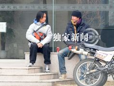 Keanu Reeves and Motorcycle in China Keanu Charles Reeves, Keanu Reeves, Man Of Tai Chi, Point Break, River Phoenix, Love Him, My Love, Matrix, Beautiful Men