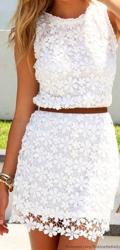 Lace dress pinned by Robinette Kelly