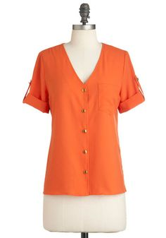 Hooray of Sunshine Top | Mod Retro Vintage Short Sleeve Shirts | ModCloth.com $35