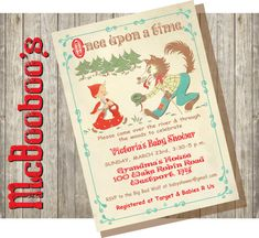 Charming Little Red Riding Hood Baby Shower by McBooboos on Etsy