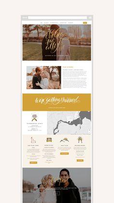 Unique wedding website design from Creative Wedding Website Design, Custom Website Design, Website Designs, Website Design Inspiration, Blog Design, Layout Design, Web Design, Cambria Joy, Portfolio Website