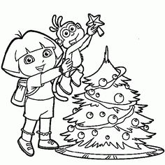 25 Wonderful Dora The Explorer Coloring Pages This Page Contains Birthday Princess Mermaid And Christmas To Print