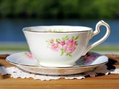 Queen Anne, Tea Cup & Saucer, Flat Vintage Teacup, Bone China 13648 - The Vintage Teacup - 1