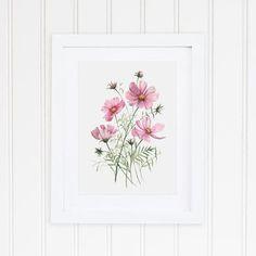 Coneflower Echinacea Art Print In 2019 Art Prints Art Watercolor