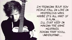 Ed Sheeran - Thinking Out Loud Lyrics With Music Thank you for this morning & for playing this for me for 3 years! People Fall In Love, We Fall In Love, Falling In Love, My Love, Songs To Sing, Love Songs, Awesome Songs, Beautiful Songs, Music Lyrics
