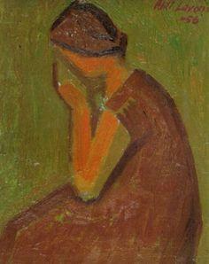 Ahti Lavonen: Suru, 1956, öljy kankaalle, 24x20 cm