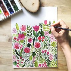 Oh my so beautiful, with spring vibes! Markovka ART Oh my so beautiful, with spring vibes! Art Floral, Floral Doodle, Doodle Flowers, Watercolour Painting, Painting & Drawing, Watercolors, Watercolour Drawings, Watercolour Illustration, Illustration Blume