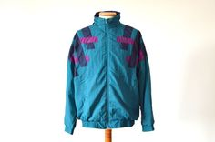 vintage ADIDAS Shell Suit Top jacket trackie nylon rare mens size D7 L 80s 90s #adidas #Tracksuit